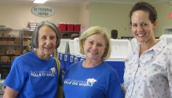 Volunteers of the Second Quarter of 2018 Kathy Whitfield and Judy Mayo with Volunteer Manager Kelley Chapman