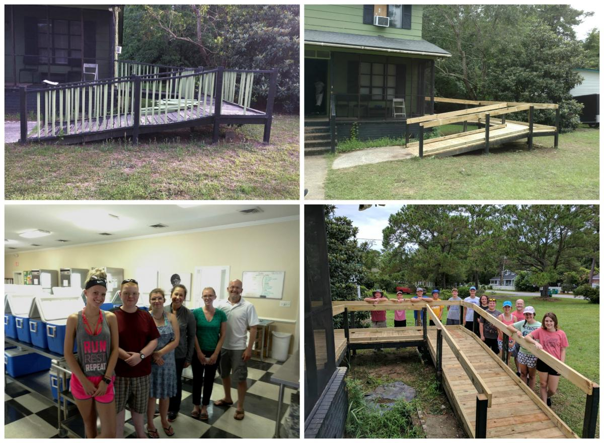 LYFT Volunteers build handicap ramps for ECMOW recipients