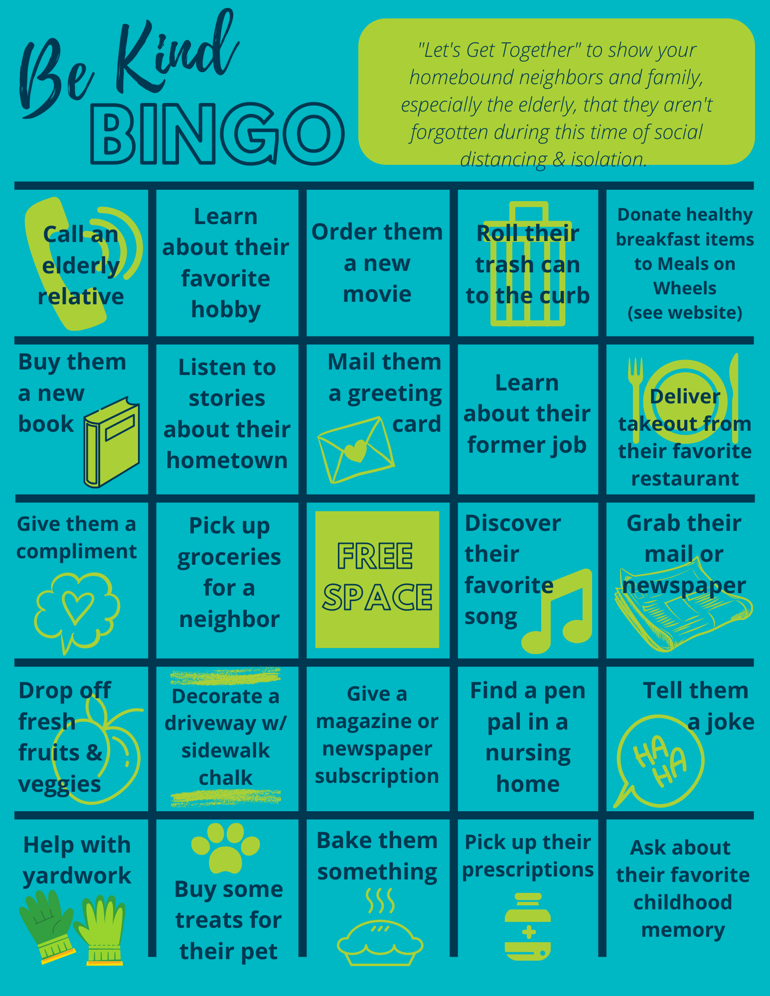 Be Kind BINGO